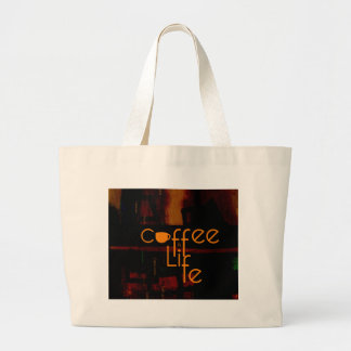 Coffee is Life Large Tote Bag