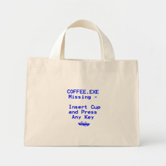 Coffee is missing! canvas bag