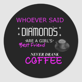 Coffee Is My BFF Large Sticker