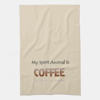 Coffee Is My Spirit Animal Kitchen Towel