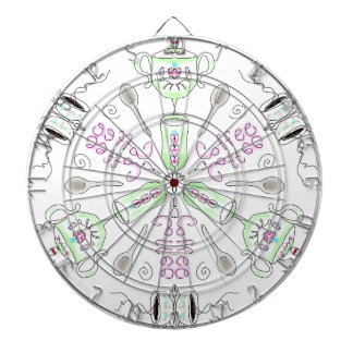 Coffee kaleidoscope dartboard