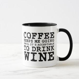 Coffee Keeps Me Going Until Wine