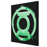 Coffee Lantern Symbol - Green Canvas Print