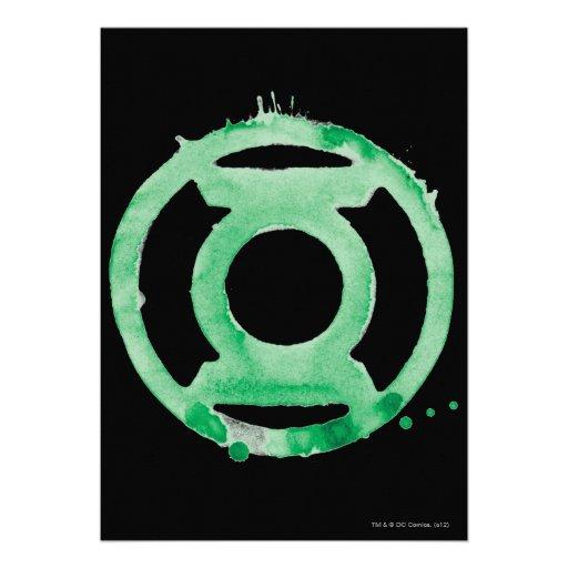 Coffee Lantern Symbol - Green Personalized Invites