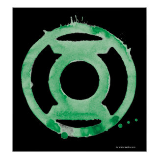 Coffee Lantern Symbol - Green Poster