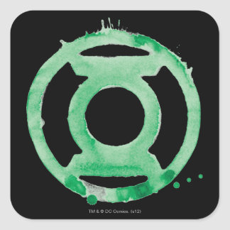 Coffee Lantern Symbol - Green Square Sticker
