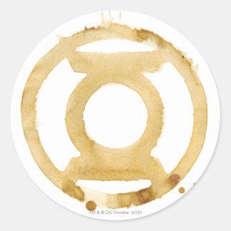 Coffee Lantern Symbol Round Sticker