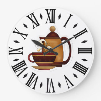Coffee Large Clock