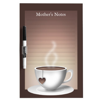Coffee Latte Dry Erase Board