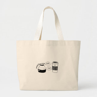 Coffee Latte Valentine's Love Large Tote Bag