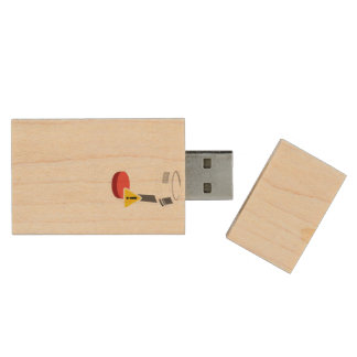 Coffee level low wood USB flash drive