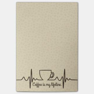Coffee Lifeline 4x6 Post-it Notes