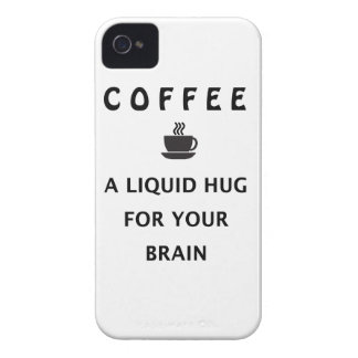 Coffee Liquid Hug For Your Brain iPhone 4 Case-Mate Case