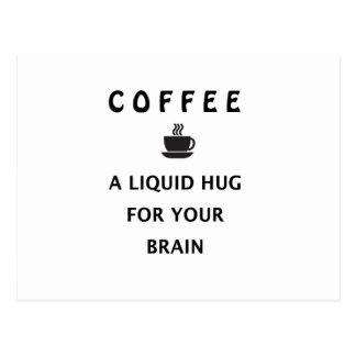 Coffee Liquid Hug For Your Brain Postcard