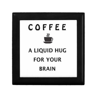 Coffee Liquid Hug For Your Brain Small Square Gift Box
