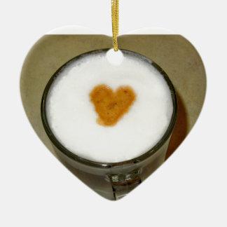 COFFEE LOVE CERAMIC HEART DECORATION