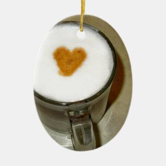 COFFEE LOVE CERAMIC OVAL DECORATION