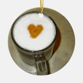 COFFEE LOVE ROUND CERAMIC DECORATION