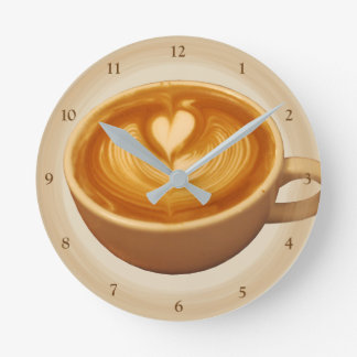 Coffee Love Round Clock