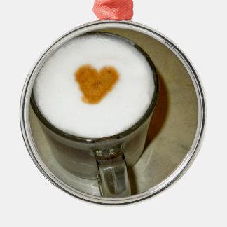 COFFEE LOVE Silver-Colored ROUND DECORATION