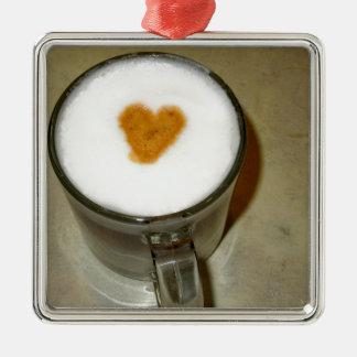 COFFEE LOVE Silver-Colored SQUARE DECORATION