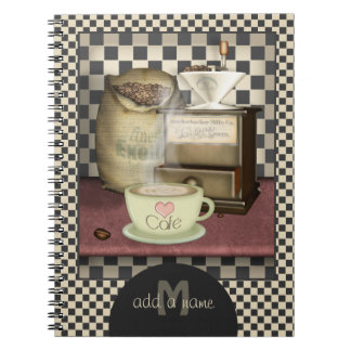 Coffee Lover Café Personalized Notebook