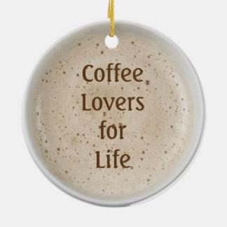 Coffee Lover Ceramic Ornament