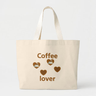Coffee Lover Large Tote Bag