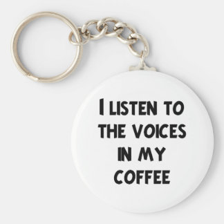 Coffee Lover T-shirts and Gifts Basic Round Button Key Ring