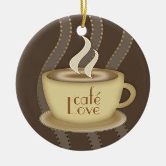 Coffee Lovers Ceramic Ornament