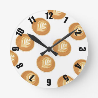 Coffee Lovers Round Clock