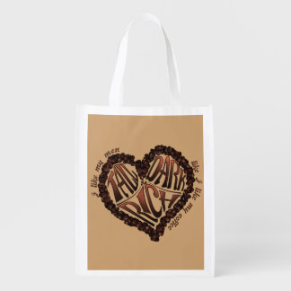 Coffee Lover's - Tall Dark & Rich Reusable Grocery Bag