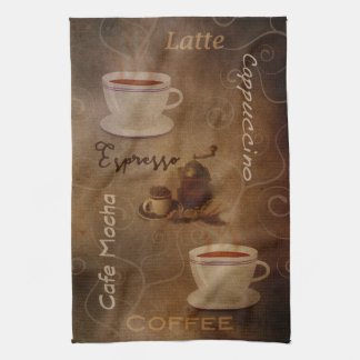 Coffee Lover's Word Art Kitchen Towel