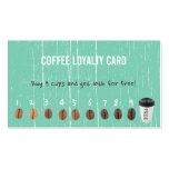 Coffee Loyalty Cards Vintage Green Wood Pack Of Standard Business Cards