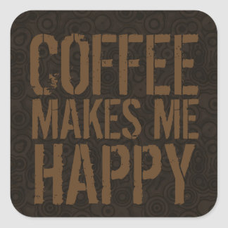 Coffee Makes Me Happy Coffee Lovers Sticker