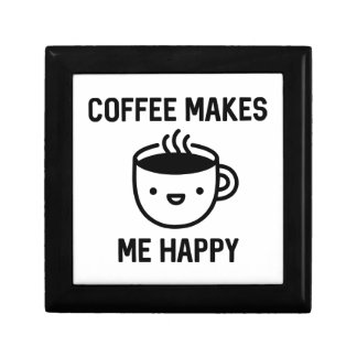 Coffee Makes Me Happy Small Square Gift Box