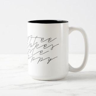 Coffee Makes Me Happy | Urban Chic | Cursive Mug