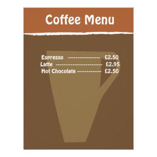 Coffee Menu Custom Flyer