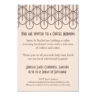 Coffee morning fundraiser event invitation