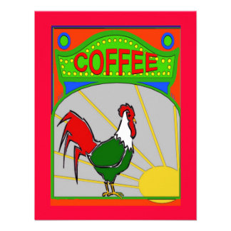 Coffee Morning Sun Shine Rooster Invites
