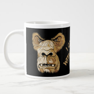 Coffee Mug,  Angry Gorilla Large Coffee Mug