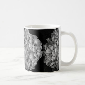 Coffee Mug Black and White Hydrangea 11oz