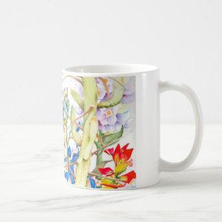 coffee mug Bluebonnets and cactus