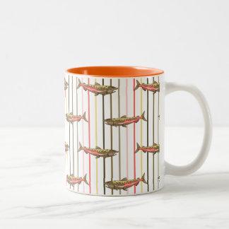 Coffee Mug - Chinook Salmon on Stripes