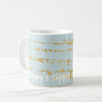 "Coffee mug ""Classic Gold/Blue Mummy's Sippy Cup"""