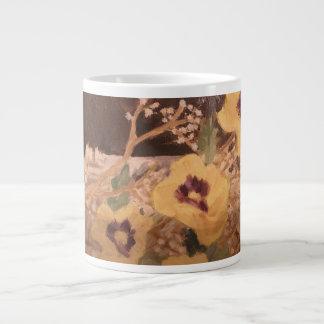 Coffee Mug Flowers with a Log