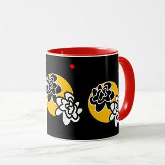 Coffee mug fun contemporary flowers bright