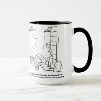 Coffee mug - Intelligent car and alien invasion