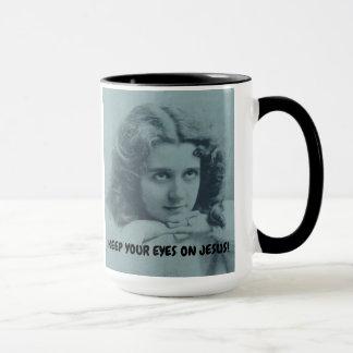 COFFEE MUG KEEP YOUR EYES ON JESUS FOR HER
