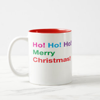 Coffee Mug, Merry Christmas Two-Tone Coffee Mug